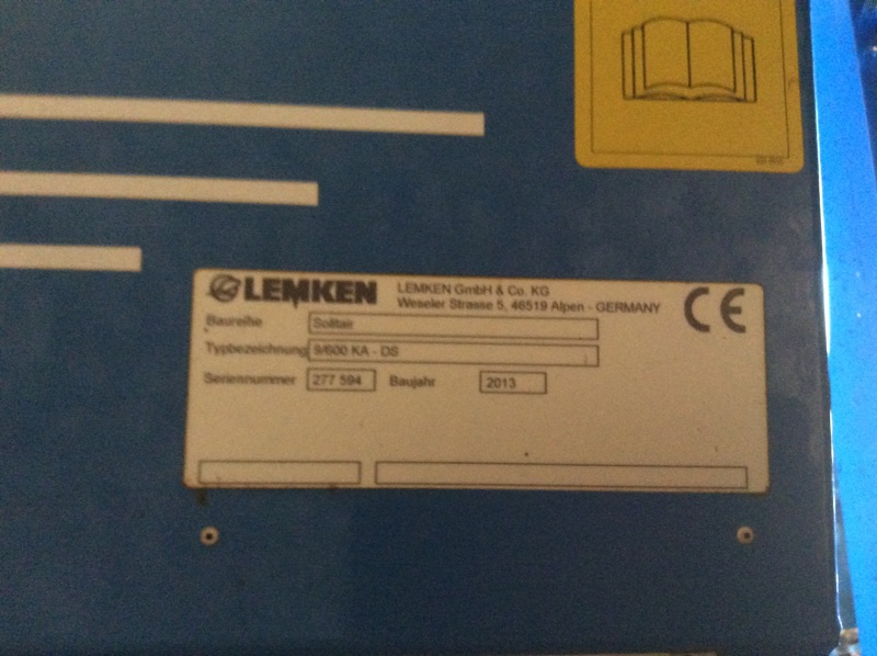 LEMKEN - LEMKEN - ZIRKON 10/600 KA - SOLITAIRE 9/600 KA-DS